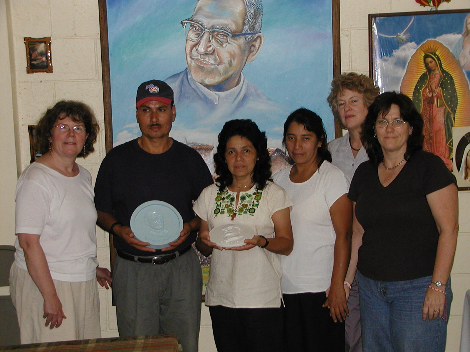 Presentation of Romero molds at the Romero Museum in San Salvador.